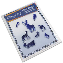 CLARITYSTAMP SET  - WOODLAND ANIMALS