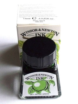 WINSOR AND NEWTON INK - APPLE GREEN 14ml