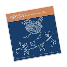 GROOVI BABY PLATES - WREN AND LEAVES