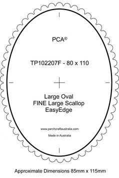 PCA TEMPLATE GUIDE FOR A SCALLOP EDGE LARGE OVAL (USE FINE LARGE SCALLOP)