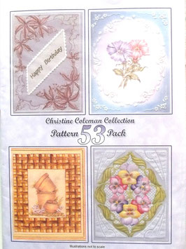 PATTERN PACK 53  -BY CHRISTINE COLEMAN