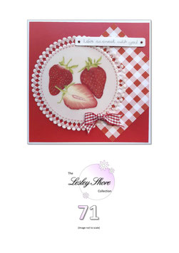PATTERN 71 STRAWBERRIES BY LESLEY SHORE