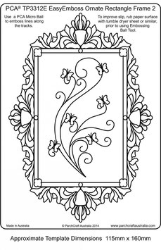 PCA EASY EMBOSSING ORNATE RECTANGLE FRAME 2