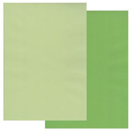 A4 TWO TONE WILLOW GREEN/ MEADOW GREEN PARCHMENT PAPER 10 SHEETS