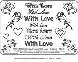 PCA WORD TEMPLATE  'WITH LOVE' OUTLINES BOLD