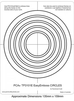 PCA EASY EMBOSSING TEMPLATE - CIRCLES