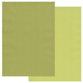 GROOVI TWO TONE A4 COLOURED PARCHMENT CRAFT PAPER- APPLE GREEN / PEAR GREEN 10 SHEETS
