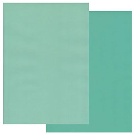 GROOVI TWO TONE A4 COLOURED PARCHMENT CRAFT PAPER- TURQUOISE / LIGHT TURQUOISE