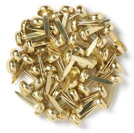 DOODLEBUG MINI BRADS 4MM (25) BRASS