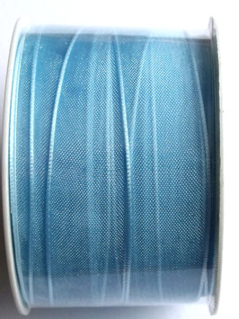 20m x 15mm ORGANZA RIBBON BABY BLUE