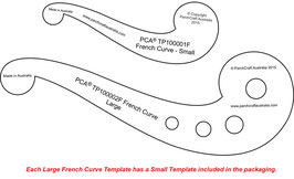 PCA TEMPLATE FRENCH CURVE LARGE (PLAIN EDGE) AND SMALL FRENCH CURVE