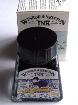 WINSOR AND NEWTON INK - ULTRAMARINE 14ml