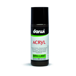 DARWI BRILLIANT ACRYLIC PAINT 80ml - DARK BROWN