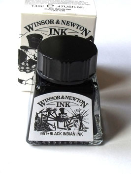 WINSOR AND NEWTON INK - BLACK INDIAN INK 14ml