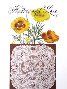 FLOWERS AND LACE DESIGN NO 9 BY JULIE ROCES