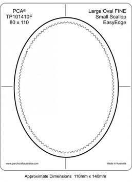 PCA TEMPLATE GUIDE FOR A SCALLOP EDGE LARGE OVAL APERTURE (FINE)