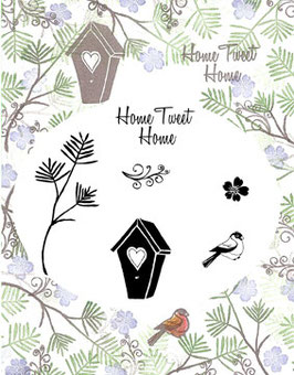 MAJESTIX PEG STAMPS - HOME TWEET HOME