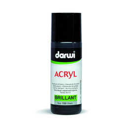 DARWI BRILLIANT ACRYLIC PAINT 80ml - BLACK