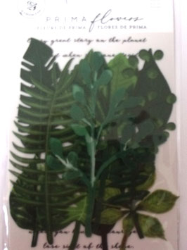 PRIMA FLOWERS - LEAF EMBELLISHMENTS - EVERGREEN