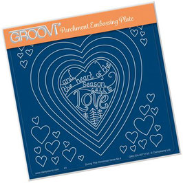 GROOVI PLATE - DURING THIS CHRISTMAS VERSE NO 4 - HEART A5 SQUARE