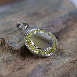 """Diamantamulett """"yellow bouquet"""" 11,5 mm"""
