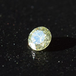 V 0,11 ct, Fancy Green-Yellow (olive)*, SI2*, Round