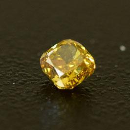 0,16 ct, Fancy Intense Orange Yellow*, VS*, Round