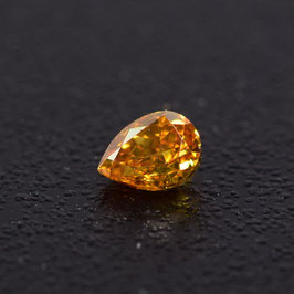 0,18 ct, Fancy Intense Orange, VS2, Pear, IGI Certified