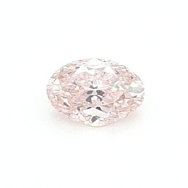 0,56 ct, Fancy Light Orangy Pink, SI1, Oval, GIA Certified