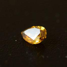 0,16 ct, Fancy Deep Orangy Brownish Yellow, (I1), Pear, IGI Certified