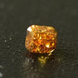 0,29 ct, Fancy Deep Yellowish Orange, VS1, Cushion, IGI Certified