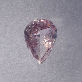 0,12 ct, Fancy Pink, I1, Pear, IGI Certified
