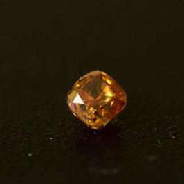 0,23 ct, Fancy Intense Yellow-Orange, VS2, Radiant, IGI Certified