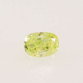 V 0,05 ct, Fancy Green Yellow (Lime)*, SI*, Oval