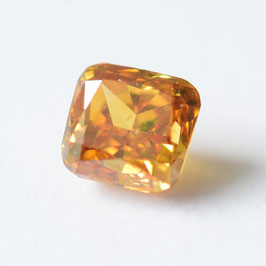 0,22 ct, Fancy Deep Yellow-Orange, SI1, Radiant, GIA Certified