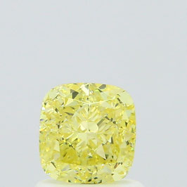 1,01 ct, Fancy Yellow, VVS1, Cushion, GIA Certified