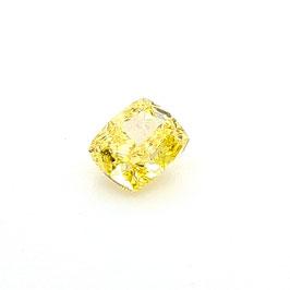 0,51 ct, Fancy Vivid Yellow, VVS1, Cushion, GIA Certified