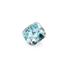 0,10 ct, Fancy Deep Blue-Green, SI2*, Cushion, GIA Certified
