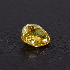 0,26 ct, Fancy Orangy Yellow, VS2, Pear, IGI Certified