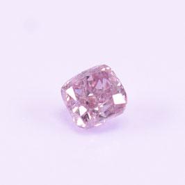 0,18 ct, Fancy Light Greyish Pink, SI2, Radiant, IGI Certified