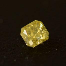 0,18 ct, Fancy Intense Greenish Yellow, (I1), Radiant, IGI Certified