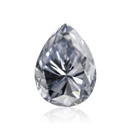 0,2 ct, Fancy Gray Blue, VS2, Pear, GIA Certified