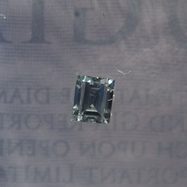 0,13 Carat, VS, Natural Light Green, Rectangular Step Cut, GIA Certified