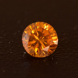 0,27 ct, Fancy Vivid Orange Yellow, SI2, Round, HRD Certified