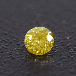 V 0,08 ct, Fancy Vivid Yellow*, SI*, Round