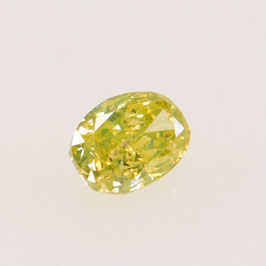 0,05 ct, Fancy Intense Greenish Yellow (Lime)*, I*, Oval