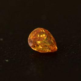 0,12 ct, Fancy Intense Yellow-Orange, (I1), Pear, IGI Certified