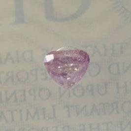 0,25 ct, Fancy Intense Purple-Pink, (P), Heart, GIA Certified