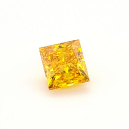 0,50 ct, Fancy Vivid Yellow-Orange, SI2, Retangular, GIA Certified