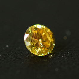 0,20 ct, Fancy Deep Yellow, I2, Round, GIA Certified
